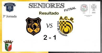 ACR Futsal perde em Lourosa / 2-1