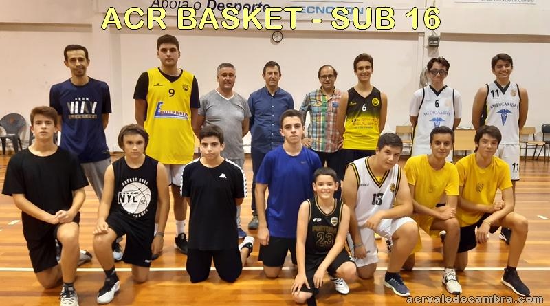Basket Sub 16 comparecem bem determinados ao 1º treino